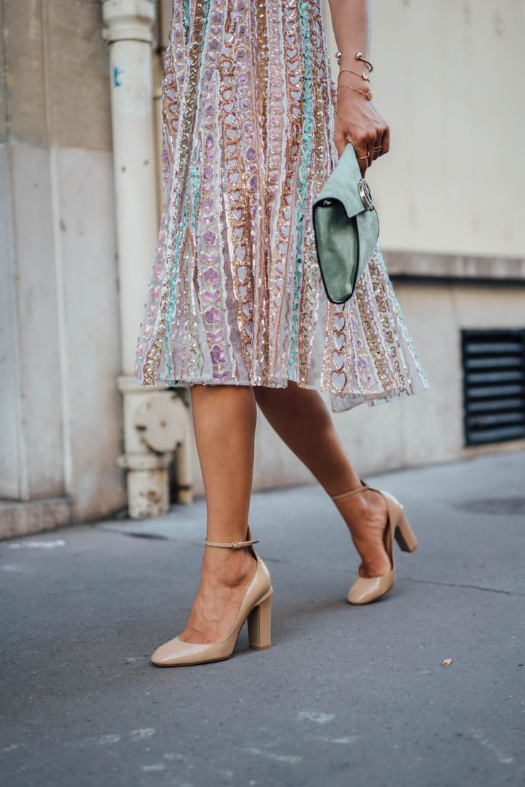 Sequin Dress & Patent Leather Pumps for Valentino | Song of Style