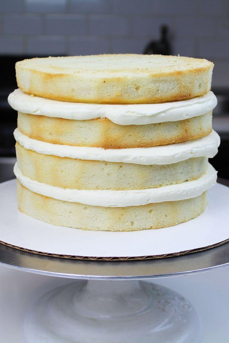 Bestes Vanillekuchen Rezept Mit Vanille Buttercreme Zuckerguss – Chelsweets   – Baking