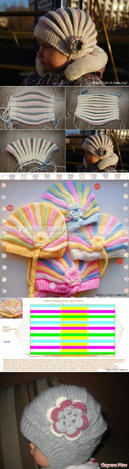 ? Russian Pinterest site ? --- any way this is a picture of the baby hat(s)