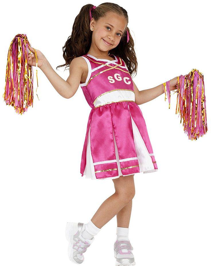 Vestido de animadora para niña de color rosa