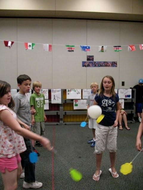 Music Olympics Event: Flyswatter Badminton