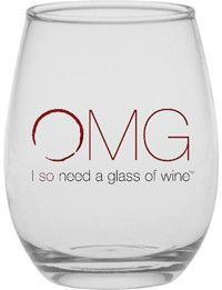 "Set of 4 ""Perfect Enough"" Stemless Wine Glasses - Short Slogan $30.00"