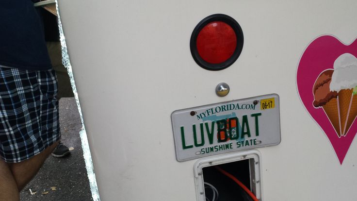 LUVBOAT ice cream truck in Florida.