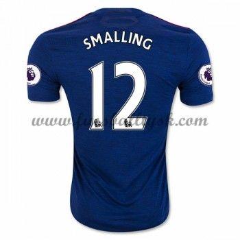 Premier League Fussball Trikots Manchester United 2016-17 Smalling 12 Auswärtstrikot Kurzarm