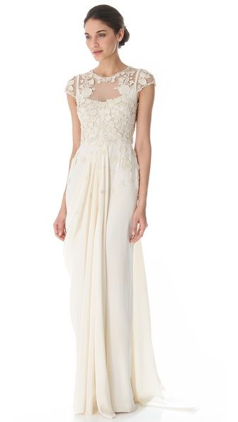 Temperley London Gown | Absolutely Dreamy! I'm loving all the detailing.#weddinggown