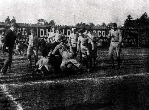 February 22, 1893: The first Alabama/Auburn football game is played in Birmingham's Lakeview Park before a crowd of 5,000 spectators. Auburn won this first match-up 32-22. The rivalry continued until 1907 when games were stopped, with the renewal of the series not coming until 1948.