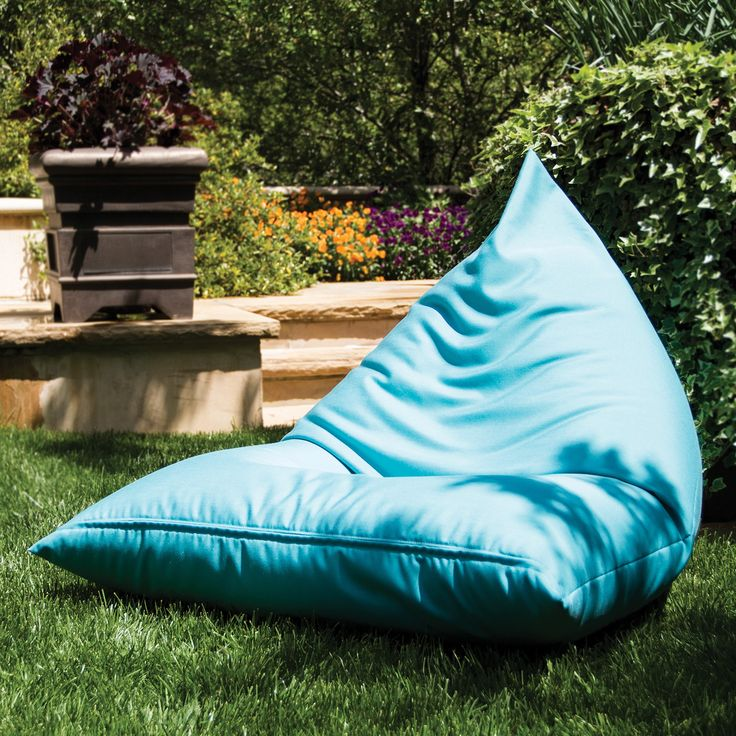 With tons of back support and the flexibility to keep you upright or allow you to lay back, this bean bag is a lounge chair and deck chair in one. This modern bag is filled with mildew-resistant polystyrene beads so it can be left outside without worry.