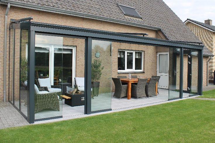 Serrebouw Brabant Volglazen schuifwanden, glazen windschermen, schuiwanden van glas, Solarlux | Serrebouw Brabant