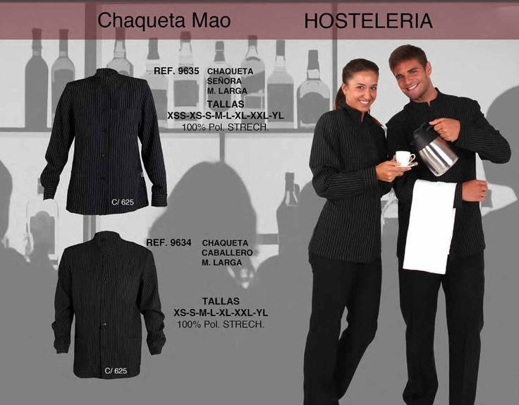 Uniformes de hosteler a chaqueta mao para se ora y for Uniformes de cocina precios