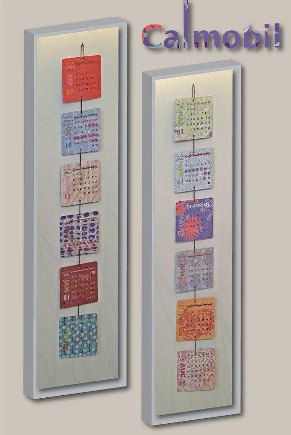 Calendar, Calmobil, Calendar Mobile, Jewish Calendar, 2016-2017 Calendar,  Wall hanging Calendar, Handmade Supply