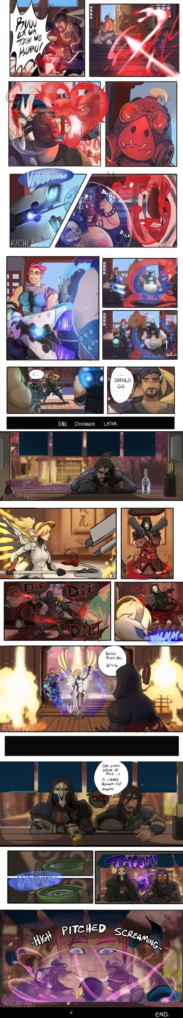 Overwatch,Blizzard,Blizzard Entertainment,фэндомы,Overwatch Comics,Zarya,Hanzo,D.Va,Roadhog,Mercy (Overwatch),Reaper (Overwatch),Winston (Overwatch)