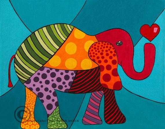 Toiles décorative éléphant