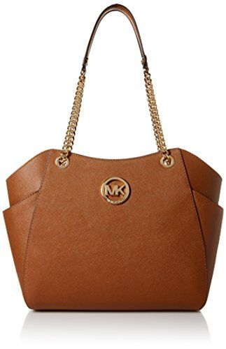 f4bfb91fe831 awesome MICHAEL Michael Kors Women s Jet Set Travel Saffiano Large Chain  Shoulder Tote