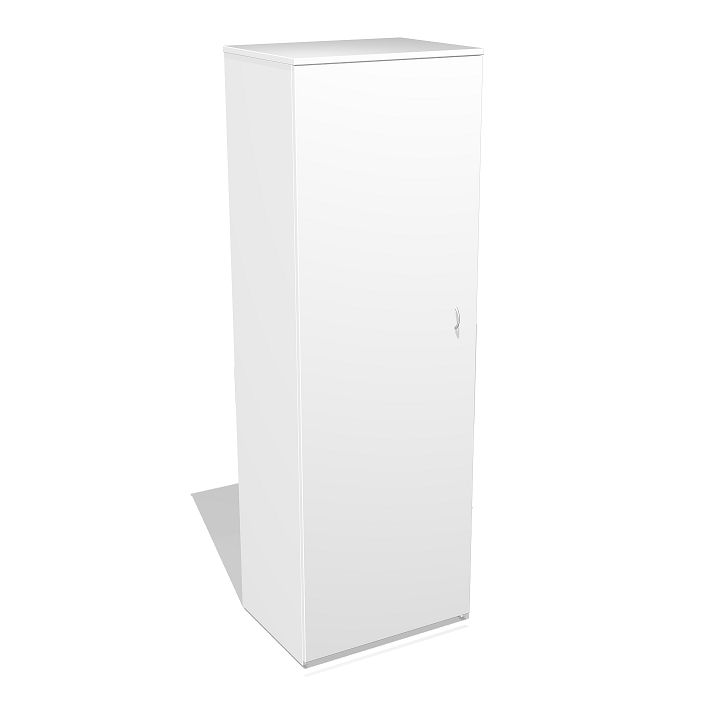 Shadowline Coat Cupboard.  The Shadowline range is Australian made office furniture which carries a full 5 year warranty. The Shadowline coat cupboard includes a fixed hat shelf and coat rail. Options include lockable doors and Luca designer handles.