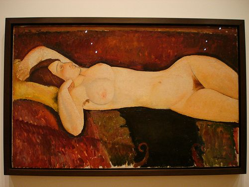 MoMA - Reclining Nude by Amedeo Modigliani  for more Amedeo Modigliani oil paintings please visit http://www.painting-in-oil.com/artworks-Modigliani-Amedeo.html