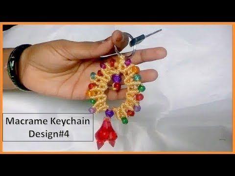 Macrame Keychain | Design#4 - YouTube
