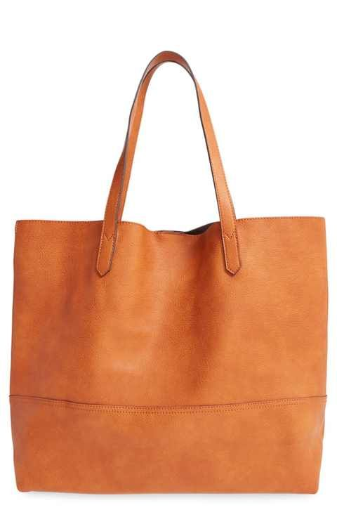 Sole Society Oversize Faux Leather Shopper