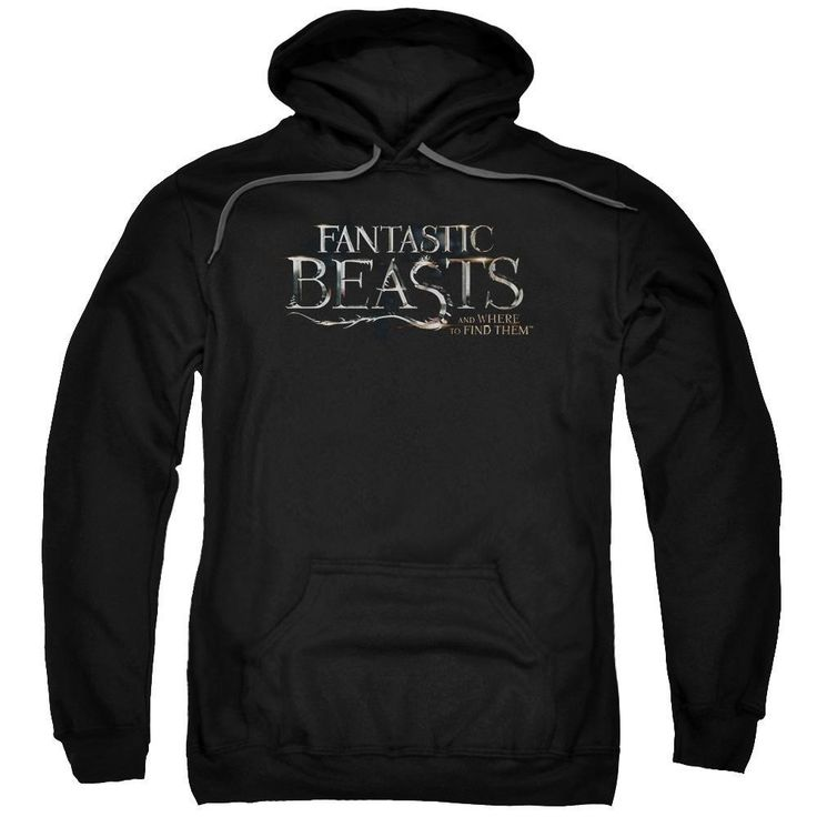 "Fantastic Beasts And Where To Find Them Film Logo Adult Black Hoodie from Warner Bros.: ""This hoodie features the… #Movies #Films #DVD Video"