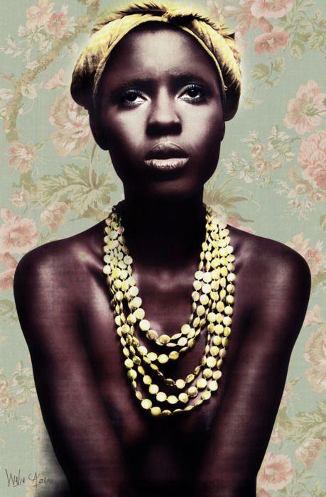 Schönes Foto und schönes afrikanisches Mädchen. Walid Azami
