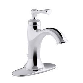Kohler Elliston Sink : KOHLER Elliston Polished Chrome 1-Handle Single Hole/4-in Centerset ...