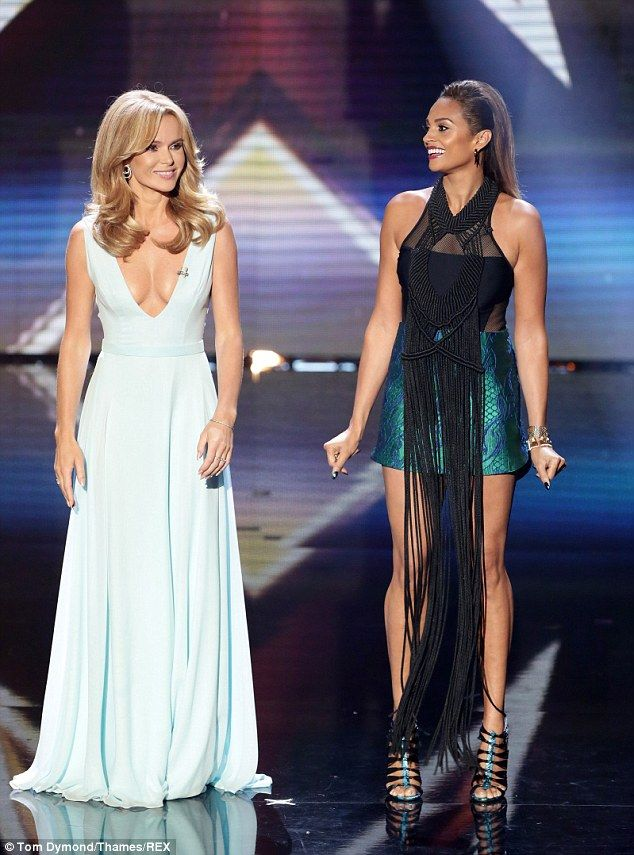 Alesha Dixon and Amanda Holden wear contrasting shades of the same colour | Mail Online