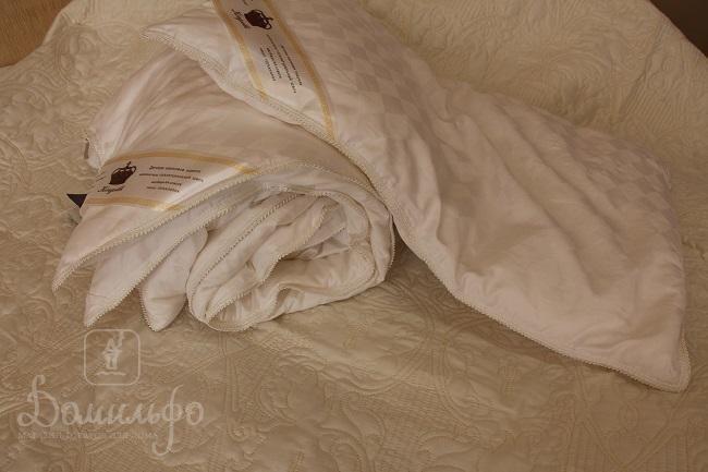 Детский набор KINGSILK из шелкового одеяла 110х140 и подушки 40х60 бежевый от производителя KingSilk (Китай)