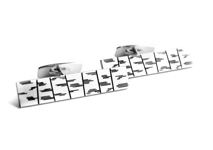 Anniina Dunder / Dunder Design ~ Sterling Silver Birch #cufflinks. | NordicJewel.com