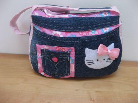 Meska - Hello Kitty-s farmer táska - pink eszterszemek kézművestől