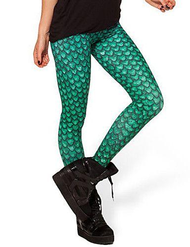 Damen Einfarbig Bedruckt Legging,Polyester Medium 4992224 2017 – €9.79