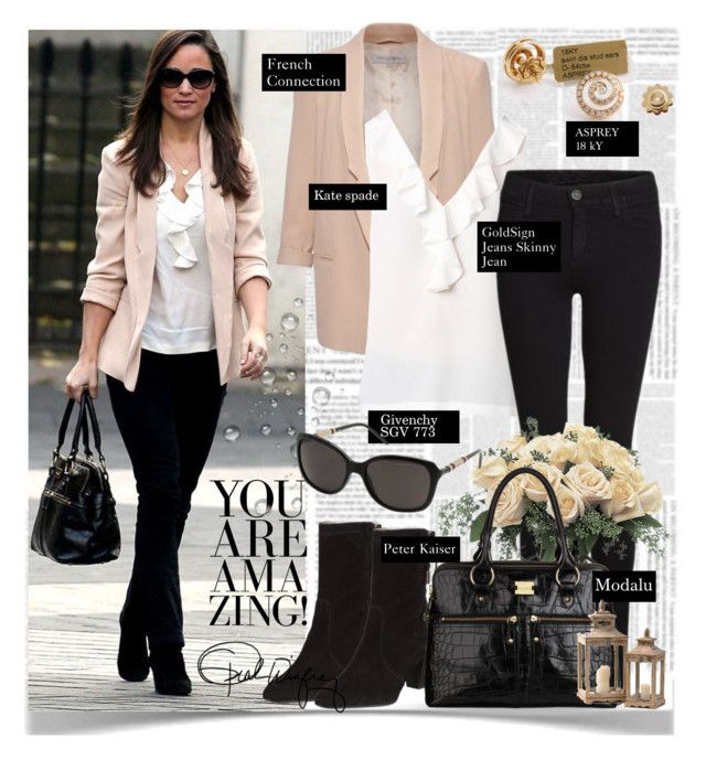 Pippa Middleton - Noviembre 14, 2012 by presidente1 on Polyvore featuring polyvore, fashion, style, Kate Spade, French Connection, Goldsign, Coldwater Creek, Pippa, Givenchy and clothing