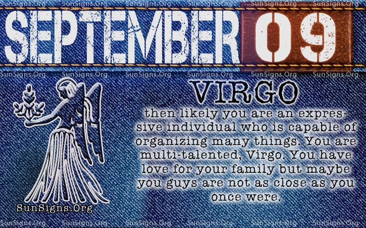 september 9 virgo birthday calendar