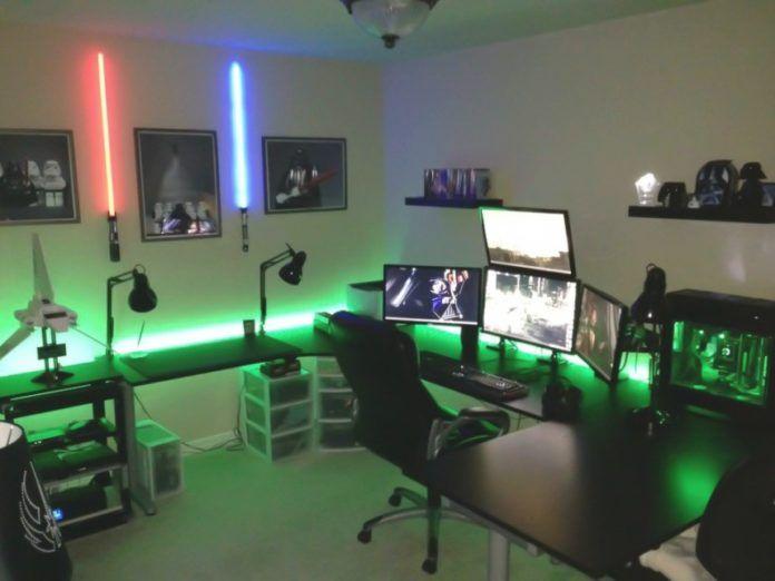 50 Awesome Gaming Room Setups 2020 Gamer S Guide Gamer Bedroom Gaming Room Setup Video Game Rooms