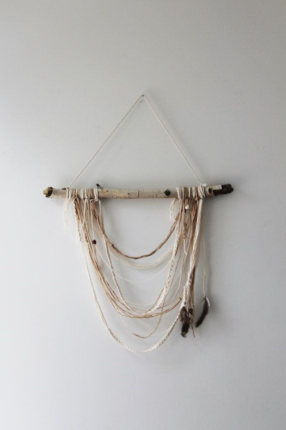 Natural Birchwood Wall Hanging by Hummusbird on Etsy, $38.00