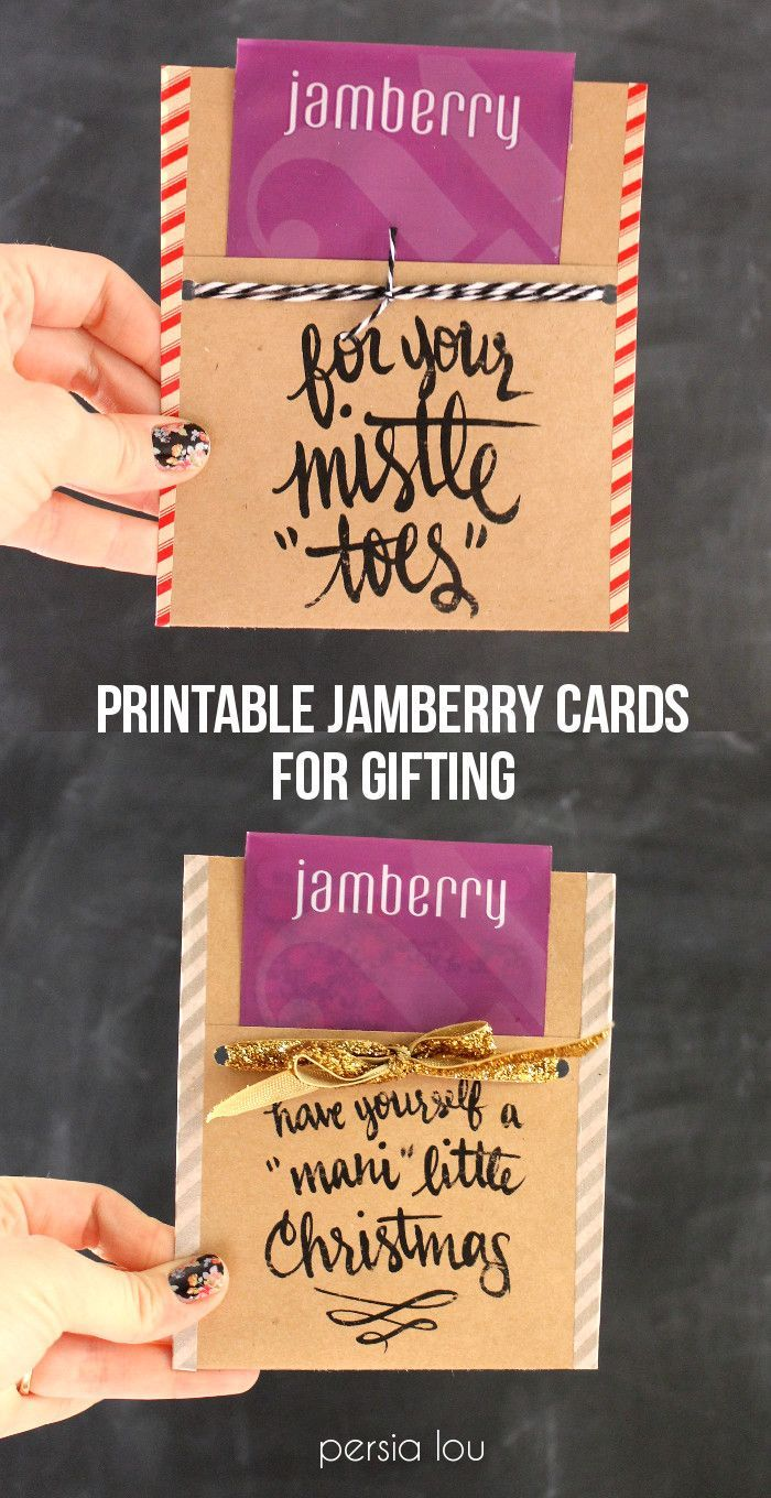 Free Printable Nail-Themed Gift Tags - This is absolutely what I'm doing for teacher gifts - not just at the holidays, but end of the year as well. www.snow-berries.com