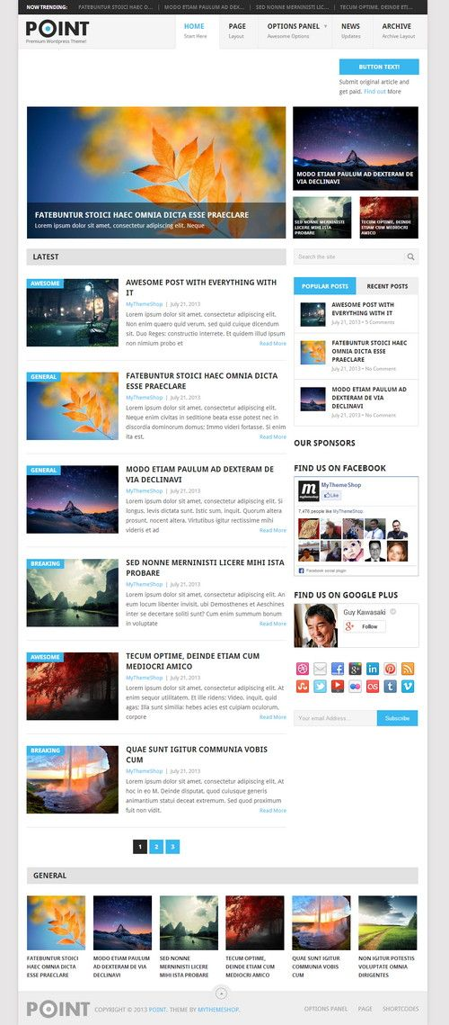 Wordpress themes for magazine / news websites.