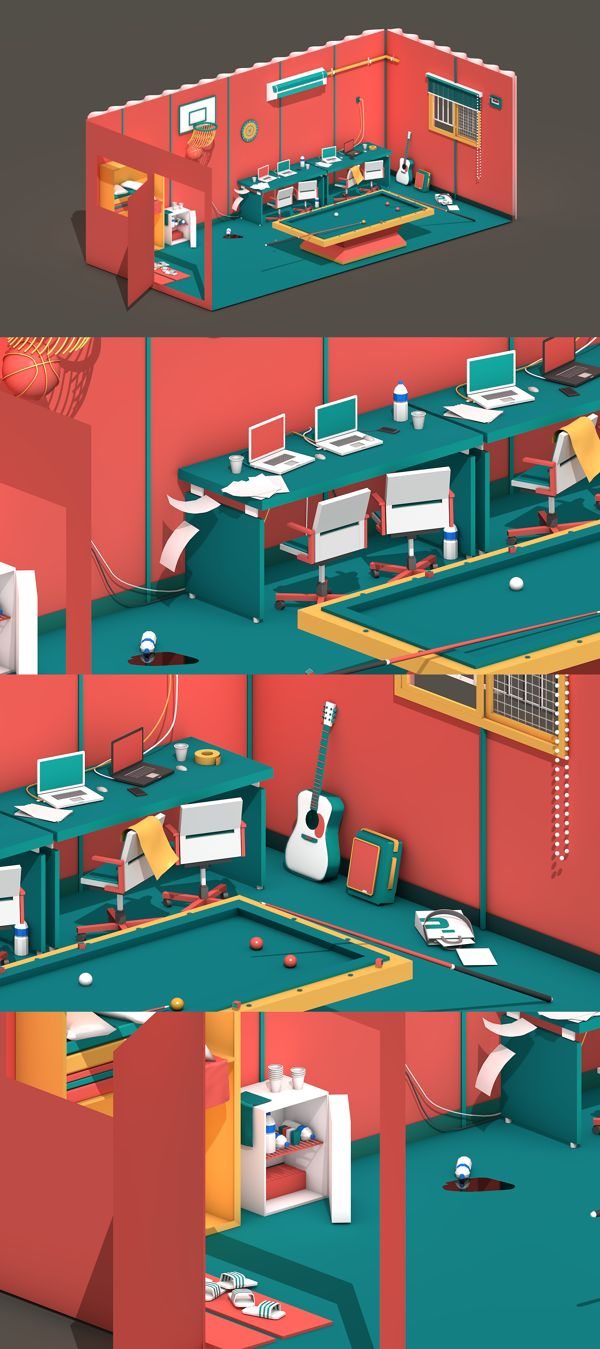 A place that I'm working by Roy Park, via Behance
