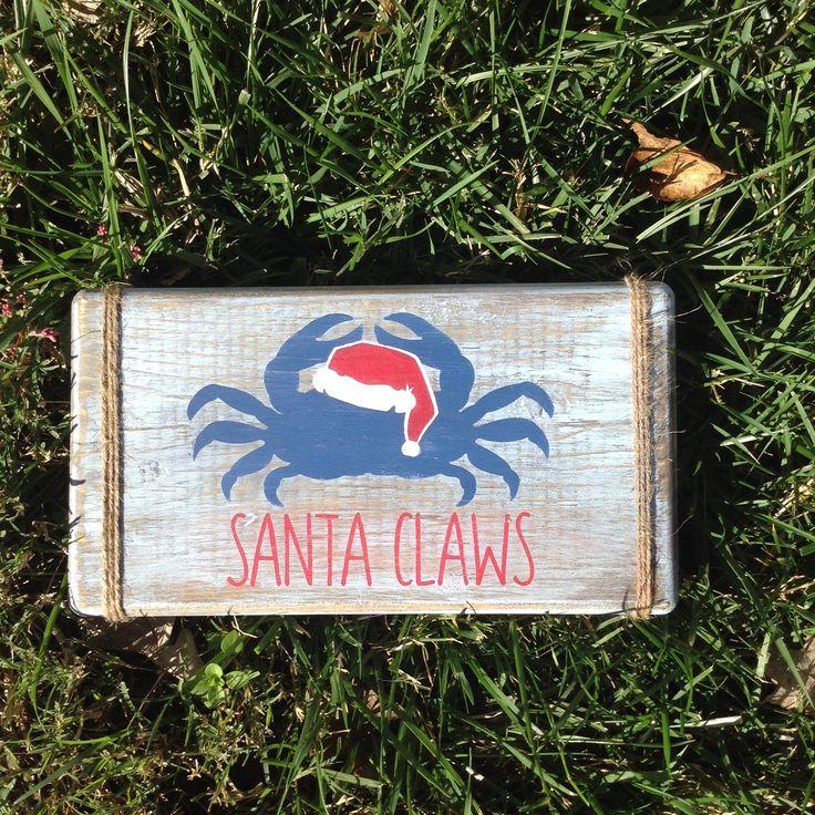 Santa claws.beach decor.christmas decor.christmas crab.crab decor
