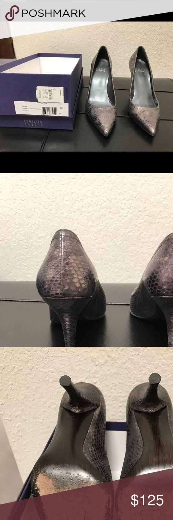 Cole Haan Daisy gunmetal snakeskin heels Cole Haan Daisy gunmetal snakeskin heels.  3in. heel. Cole Haan Shoes Heels