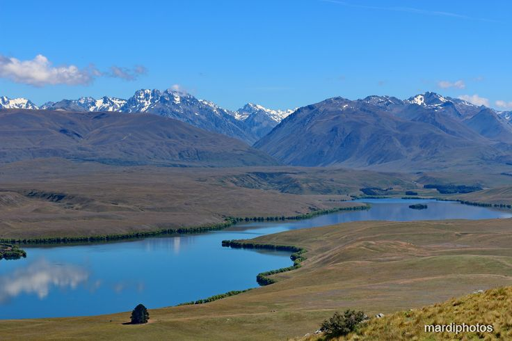 Lake Alexandrina take from the Mt John Observatory Lookout