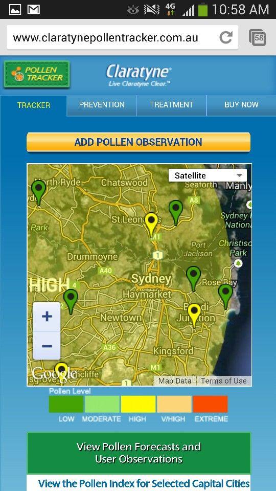 Claratyne social pollen tracker
