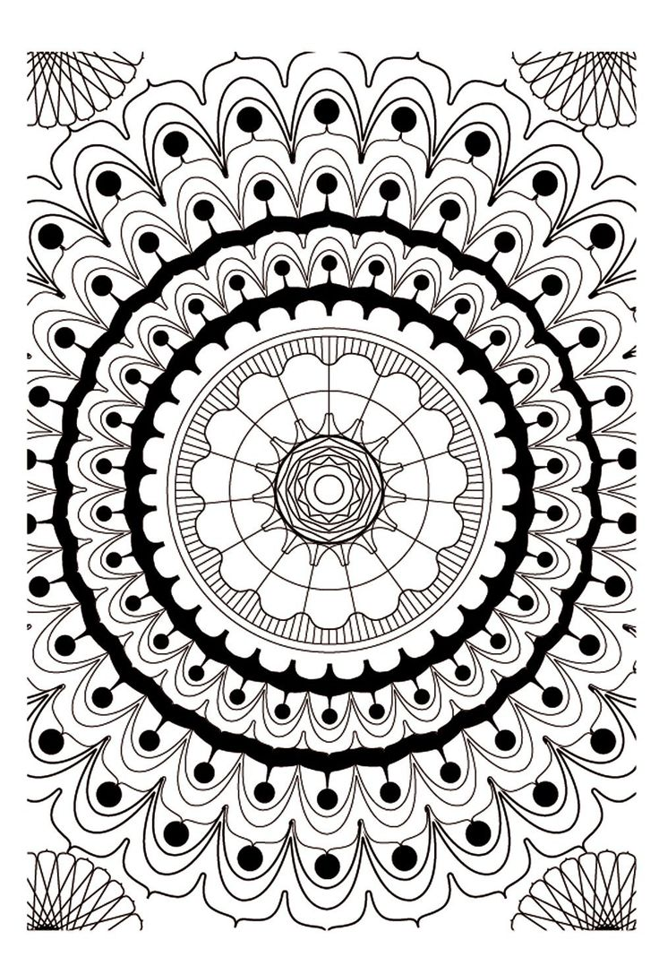17 best images about coloring relaxation on pinterest - Mandalas adultes gratuits ...
