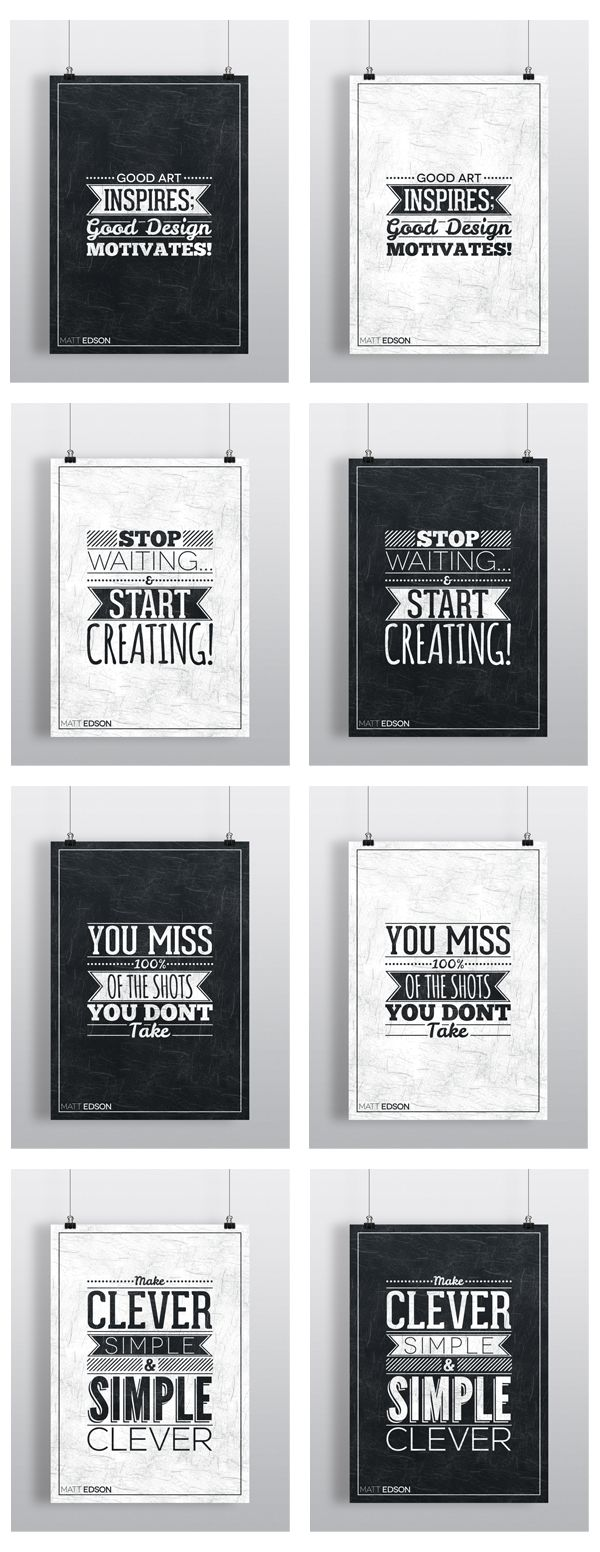 Typography Poster Set No.1