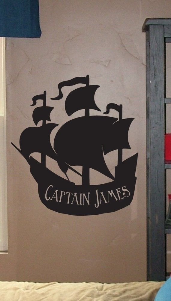Large Personalized Pirate Ship  Vinyl Wall by urbanexpressions, $25.00