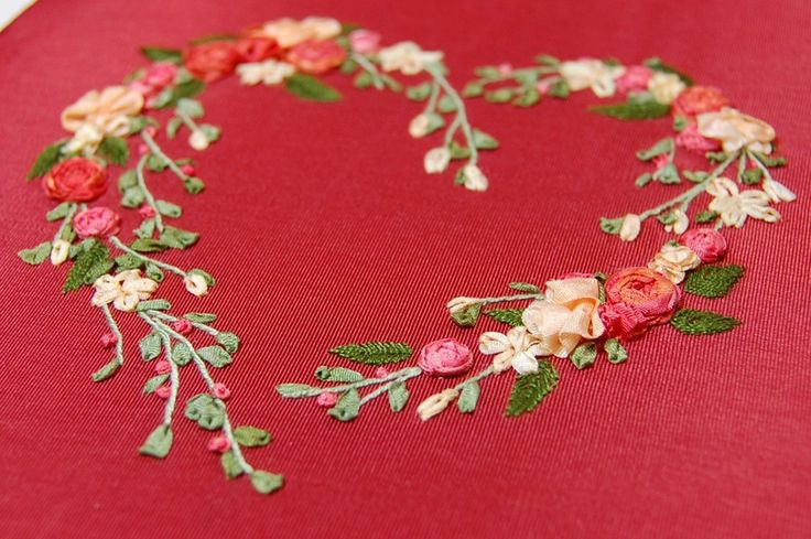 Ribbon needlework beginners embroidery july