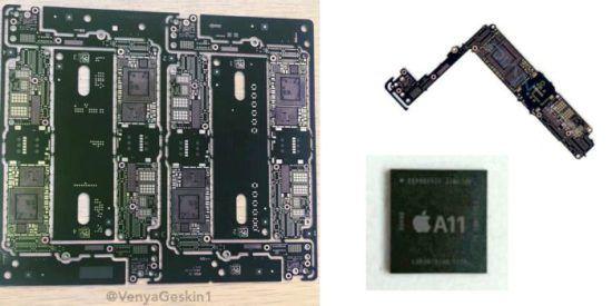 Se han filtrado partes del iPhone 7s Plus placa base y Chip A11