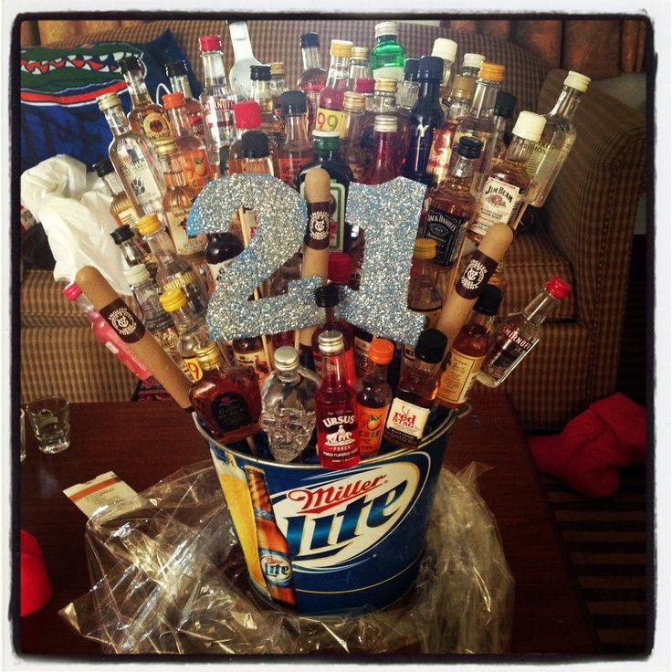 18th Birthday Basket For My Son S Birthday Filled With: 25+ Best Ideas About 21 Birthday Gifts On Pinterest