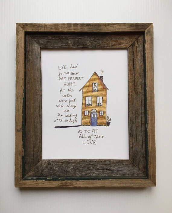 Home Quote Art/Family Home Decor/Wedding Gift/Housewarming