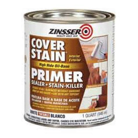 Zinsser 03554 High Hide Cover Stain Primer 1 Qt White