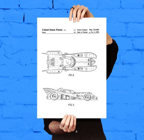 Batman Batmobile Print, Batman Batmobile Patent, Batman Batmobile Poster, Batman Batmobile Art, Batman Batmobile Decor, Batman Batmobile by STANLEYprintHOUSE  5.00 USD  This is a vintage patent print. The Batman Batmobile from 1992.  This poster is printed using high quality archival inks, and will be of museum quality. Any of these posters will make a great affordable gift, or tie any room together.  Please choose between different sizes and colors ..  https://www.etsy.com/ca/list..