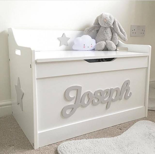 Details About Girls Boys Wooden Personalised Children S Toy Box Storage Box Chest Nursery Childrens Toy Boxes Baby Toy Storage Toy Storage Boxes